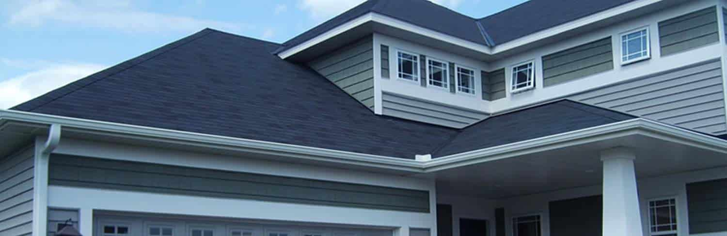 House showing seamless gutters