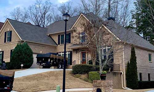Exterior view of house in Lawrenceville, GA